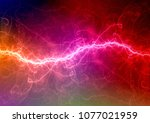 colorful plasma  abstract...   Shutterstock . vector #1077021959