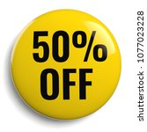 50  off discount offer round... | Shutterstock . vector #1077023228