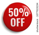 50  off discount offer round... | Shutterstock . vector #1077023234