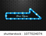 frame light sign arrow blue... | Shutterstock .eps vector #1077024074
