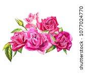 set watercolor elements of... | Shutterstock . vector #1077024770