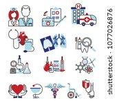 flat line design icons... | Shutterstock .eps vector #1077026876