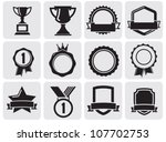 black award set | Shutterstock .eps vector #107702753