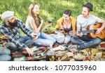 friends group having fun...   Shutterstock . vector #1077035960