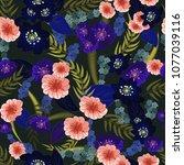 seamless texture. multicolor...   Shutterstock .eps vector #1077039116