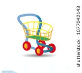toy cartoon shopping cart icon  ...