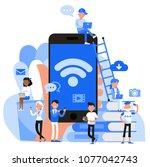 people character vector design. ... | Shutterstock .eps vector #1077042743