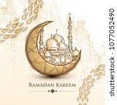 ramadan kareem islamic design... | Shutterstock .eps vector #1077052490