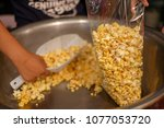 thai style popcorn is crispy... | Shutterstock . vector #1077053720