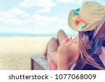 Young Woman Whit Sun Hat...