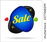 sale colorful offer glossy... | Shutterstock .eps vector #1077068399