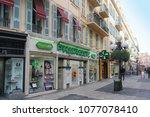 nice  france   february 03 ...   Shutterstock . vector #1077078410