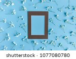 frame with paper card mockup....   Shutterstock . vector #1077080780