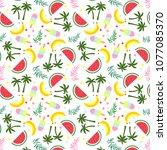 good summer pattern | Shutterstock .eps vector #1077085370