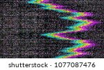 glitch. abstract shapes. chaos. ... | Shutterstock .eps vector #1077087476
