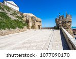 the town of termoli on adriatic ... | Shutterstock . vector #1077090170