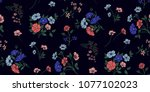 seamless floral pattern in... | Shutterstock .eps vector #1077102023