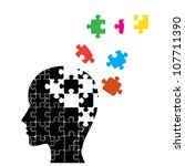 memory loss man | Shutterstock .eps vector #107711390
