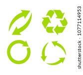 recycling symbol for... | Shutterstock .eps vector #1077114953