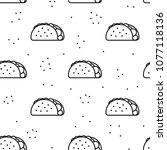 Seamless Taco Black Icon...