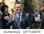 Small photo of BANGKOK THAILAND-APR7:Jack Ma, founder of giant Alibaba,meets with Thailand's Prime Minister Prayuth Chan-ocha during a visit to the country to announce the group's investment in the Thai government's