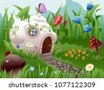 Vector Fairy Home In The Pot On ...