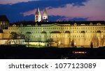 prague is the capital of the... | Shutterstock . vector #1077123089