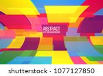 abstract colorful mosaic.... | Shutterstock .eps vector #1077127850