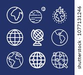 global outline vector icon set... | Shutterstock .eps vector #1077131246