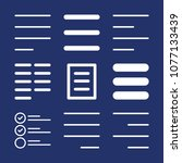 lines outline vector icon set... | Shutterstock .eps vector #1077133439