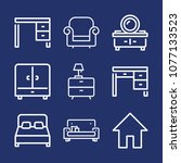 furniture outline vector icon... | Shutterstock .eps vector #1077133523