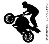 silhouettes rider participates... | Shutterstock .eps vector #1077135440