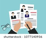 personnel management   choice... | Shutterstock .eps vector #1077140936