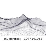 architectural drawing 3d  | Shutterstock .eps vector #1077141068