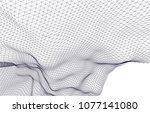architectural drawing 3d  | Shutterstock .eps vector #1077141080