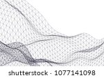 architectural drawing 3d  | Shutterstock .eps vector #1077141098