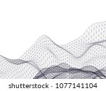 architectural drawing 3d  | Shutterstock .eps vector #1077141104