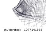 architectural drawing 3d | Shutterstock .eps vector #1077141998
