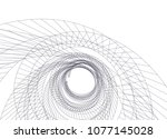 abstract architecture vector 3d ... | Shutterstock .eps vector #1077145028
