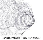 abstract architecture vector 3d ... | Shutterstock .eps vector #1077145058