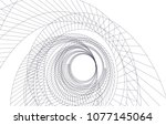 abstract architecture vector 3d ... | Shutterstock .eps vector #1077145064