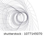 abstract architecture vector 3d ... | Shutterstock .eps vector #1077145070