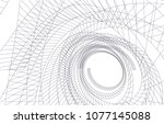 abstract architecture vector 3d ... | Shutterstock .eps vector #1077145088
