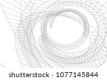 abstract architecture vector 3d ... | Shutterstock .eps vector #1077145844