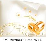wedding invitation template ... | Shutterstock .eps vector #107714714