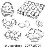 illustration of eggs   hand... | Shutterstock .eps vector #107715704