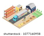 3d isometric process of the... | Shutterstock .eps vector #1077160958