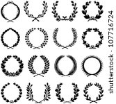 wreath collection   vector... | Shutterstock .eps vector #107716724