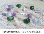meditation grid kit. quartz... | Shutterstock . vector #1077169166