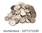 pile of american coins  dime ...